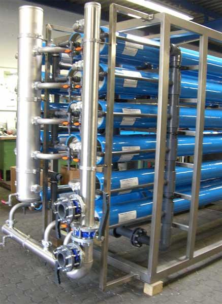 Образец установки 140 м куб/час в процессе сборки
